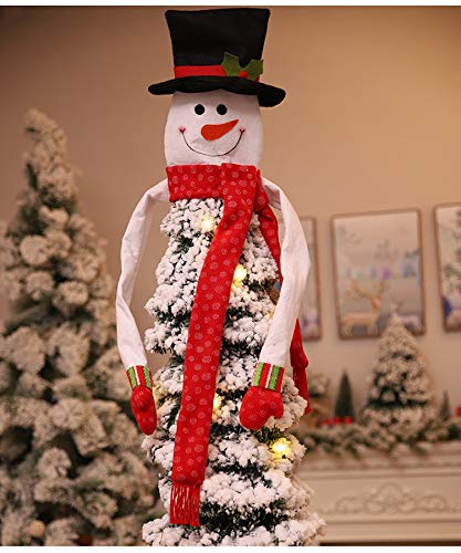 Alapaste Christmas Tree Topper Snowman Hugger Christmas Tree Ornament Xmas Holiday Winter Wonderland Party Decoration Supplies