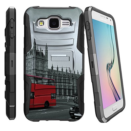 Samsung Galaxy E5 Holster Case [Clip Armor] Rugged Cover With Built in Kickstand and Belt Clip by Miniturtle - Historic - England Black Deer