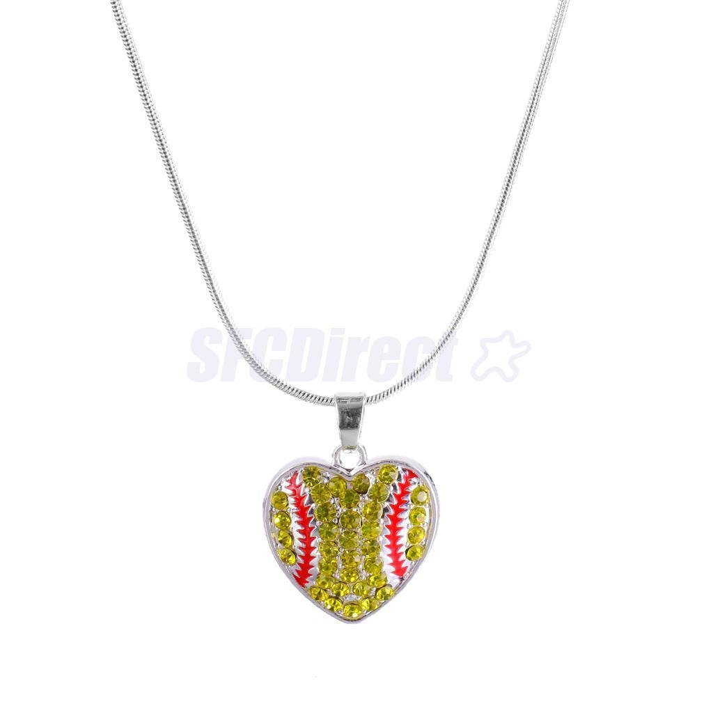 Fashion Women Unisex Chain Softball Necklace Sports Jewelry College Charms by sfcdirect (Image #1)