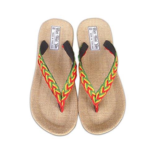 @Sandals @Sandals @Sandals Schuhe, Handgefertigte Fischgrät Schuhe, Flachs Hausschuhe, Clip Toe Freizeit Sand Stall Schuhe, Stricken ab93bb