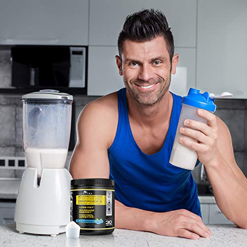 Keto Blue Ketogenic Supplement〡BHB Ketones and MCT Oil Keto Fat, Promote and Natural Energy. Ketosis Supplement