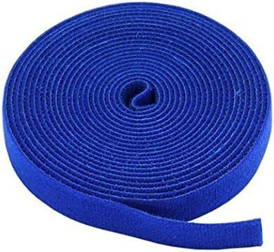 Monoprice Fastening Tape 0.75inch One Wrap Hook /& Loop Fastening Tape 5 yard//Roll Blue 2 Pack