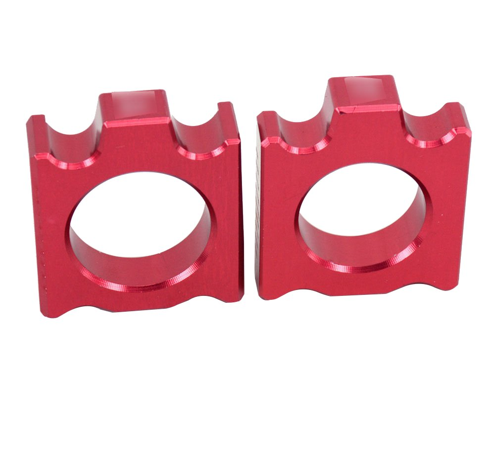 Rear Chain Adjuster Axle Block for Honda CR125 CR250 CRF250R CRF450R CRF450X Red JHMOTO