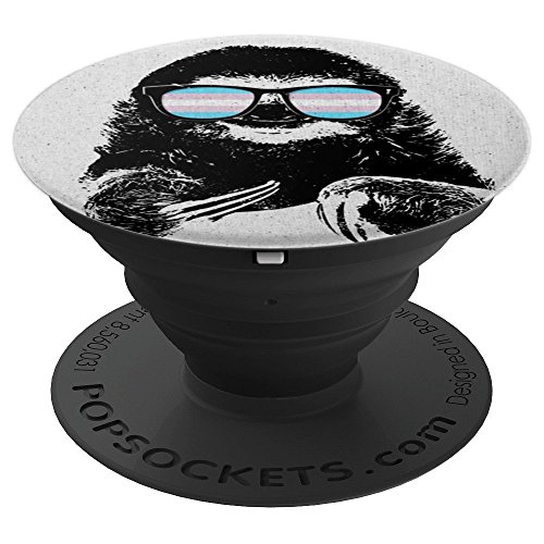 Pride Sloth Transgender Flag Sunglasses - PopSockets Grip and Stand for Phones and ()