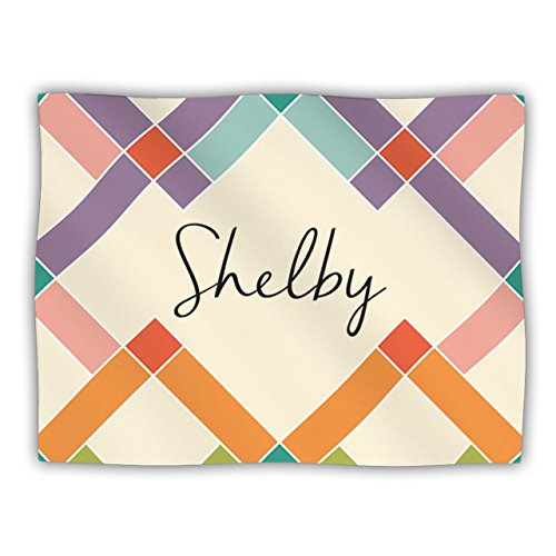 """Kess InHouse """"Shelby"""" Colorful Geometry Pet Blanket, 30 by 40-Inch"""