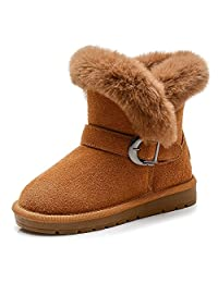 MIGO BABY Children Snow Boots Thicken Plush Winter Shoes Non-Slip Boys and Girls Boots for 2-14 Years Old