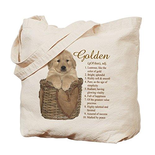CafePress - Golden Retriever Meaning - Natural Canvas Tote Bag, Cloth Shopping (Everything Golden Retriever Book)