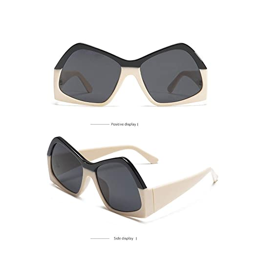 677795bcf4 Islandse💖💖Women Men Vintage Eye Sunglasses Retro Eyewear Fashion  Radiation Protection (Beige)