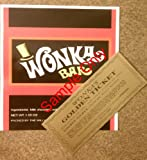 willy wonka chocolate bar - 1.55 oz. Willy Wonka chocolate bar wrapper & golden ticket-Mini - no chocolate included