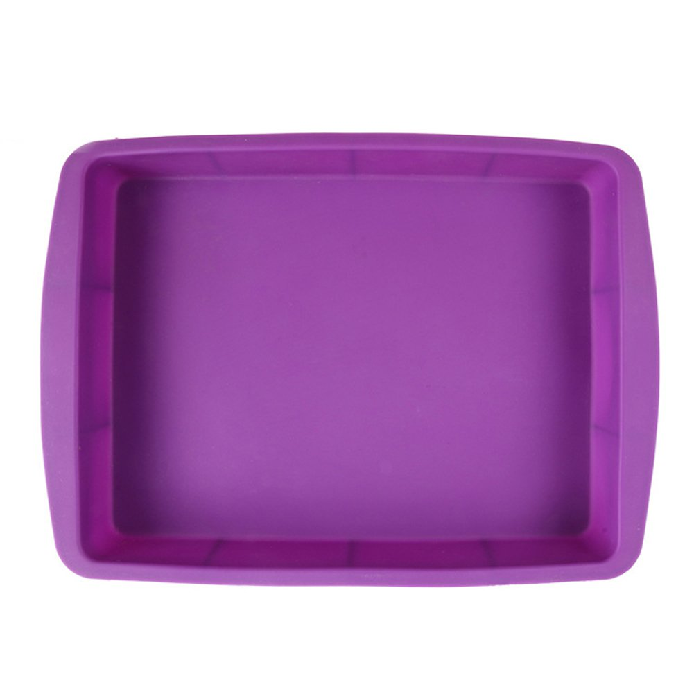 NYKKOLA Silicone Rectangular Cake Pans Easy Demoulding,Non-Stick European-Grade Silicone - Purple CV5385