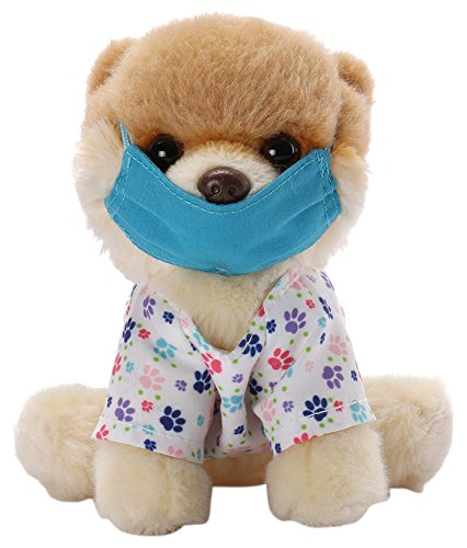 "GUND Itty Bitty Boo Scrubs Dog Stuffed Animal Plush, 5"""