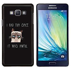 LECELL--Funda protectora / Cubierta / Piel For Samsung Galaxy A7 A7000 -- Me divertí vez Angry Cat --
