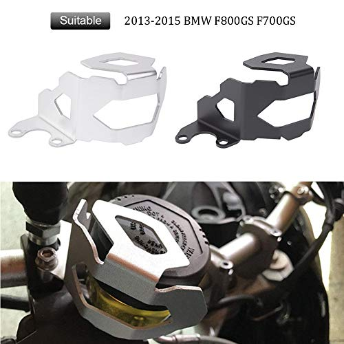 FATExpress Motorcycle AluminumFront Brake Fluid Reservoir Protector GuardCover for 2013-2015 BMW F800GS F700GS F 700 800 GS 2014 13-15 (Black)