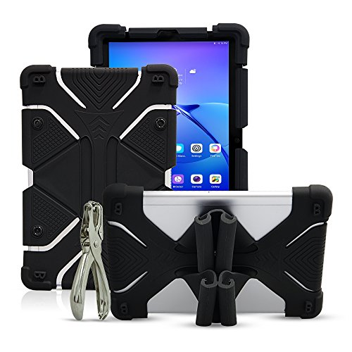 Universal 8.9~10.1 inch Tablet Case, Shockproof Silicone Protective Stand Cover for New iPad 2018, Samsung Galaxy Tab S2/S3 9.7 inch, Kindle Fire HD 8.9