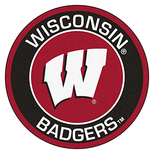 NCAA University of Wisconsin Badgers Rounded Non-Skid Mat Area Rug