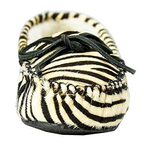 Faux Cally Slipper Fur Women's Minnetonka Zebra q7R0EHx