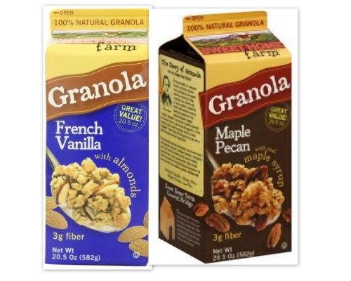 Sweet Home Farm Variety Bundle, 20.5 oz (Pack of 2) includes 1-Pack of French Vanilla Granola With Almonds + 1-Pack of Maple Pecan with real maple syrup by Sweet Home Farm