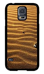 Samsung Galaxy S5 I9600 Case Color Works Sand Cockleshells Sinks Black PC Hard Case For Samsung Galaxy S5 I9600 Phone Case