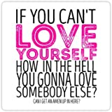 Chili Print RuPaul's Drag Race - If You Can't Love Yourself… Quote - Sticker Graphic Bumper Window Sicker Decal - Gay…