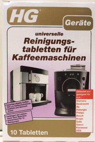 HG dispositivos universal pastillas de limpieza para cafeteras (10 ...