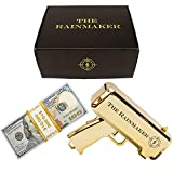 All Out Solutions The Rainmaker Money Gun | $10,000 Play Money | Money Looks Real! | Metallic Gold | Impress Your Friends with This Fun Party Toy | Shoot Cash and Make It Rain
