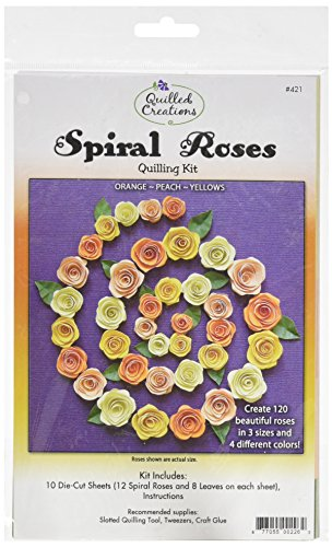 (Quilled Creations QC421 Spiral Roses Quilling Kit, Orange/Peach/Yellow)