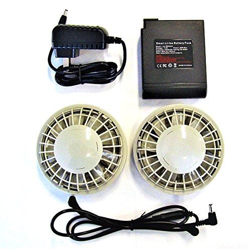 空調服用大容量バッテリ―ファンケーブルセット(ファン2個(グレー))SBTF-01 B07DQTZSCS