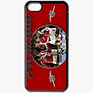 Personalized iPhone 5C Cell phone Case/Cover Skin Arsenal Victory Through Harmony Carlos Alberto Vela Jay Simpson Arsenal England U21 Football Black