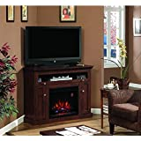 Windsor Corner Infrared Electric Fireplace Media Cabinet 23DE9047-PC81