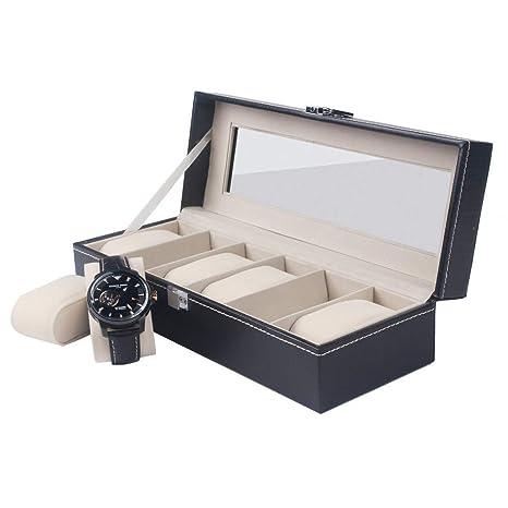 DKZK Caja de Relojes Exhibidor de joyería, Almacenamiento de ...