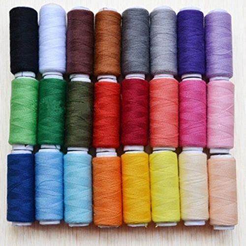 24 Color 100% Cotton Spools All Purpose Polyester Sewing And Quilting Threads (Where To Buy Upholstery Leather)