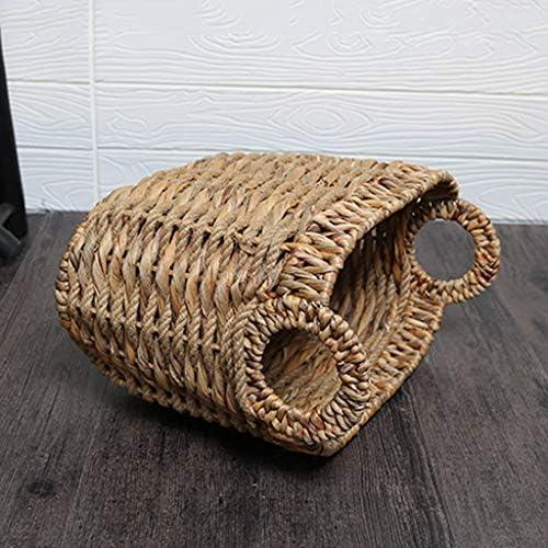 Xuan - Worth Having Rotin Portable Panier À Linge Chambre À Coucher Sale Poubelle Vêtements Divers Panier De Rangement, 35 * 22 * 32 cm