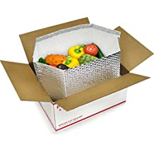 10 Pack Foil Insulated Box Liners 6 x 6 x 6 Thermal box. Bottom Gusseted Box Liners for shipping food, pharmaceuticals, biotech, cosmetics. Gusseted bottom.