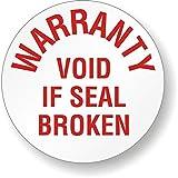 WARRANTY VOID IF SEAL BROKEN, Tamper Resistant Vinyl Label, 200 Labels / Pack, 0.75'' x 0.75''