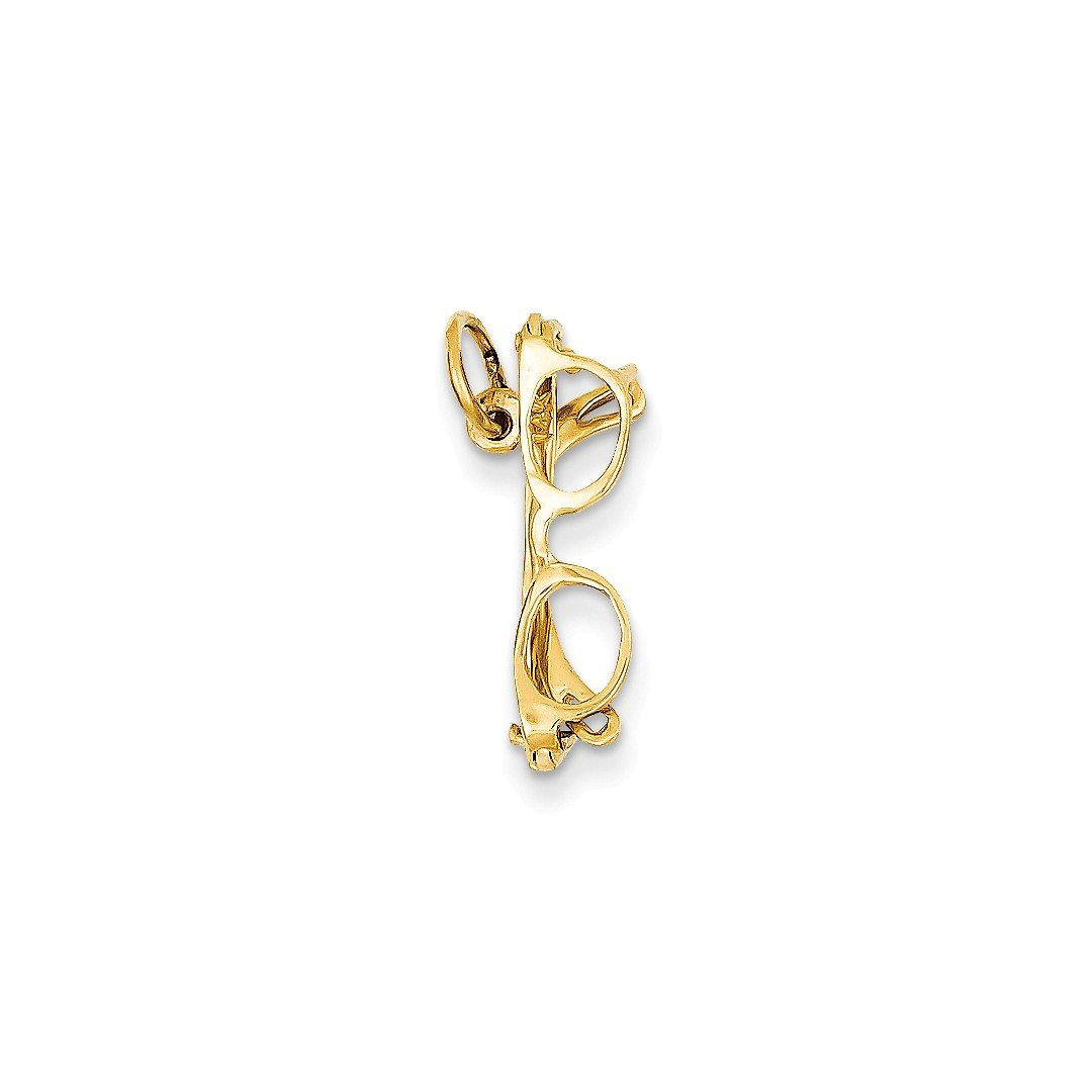 ICE CARATS 14k Yellow Gold Glasses Pendant Charm Necklace Fine Jewelry Ideal Mothers Day Gifts For Mom Women Gift Set From Heart