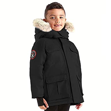 b1dbb291f Triple FAT Goose Chenega Boys Hooded Goose Down Arctic Parka with Real  Coyote Fur