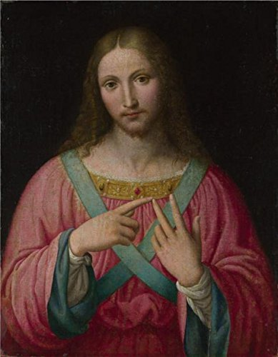 The High Quality Polyster Canvas Of Oil Painting 'After Bernardino Luini-Christ,1530' ,size: 16x21 Inch / 41x52 Cm ,this High Quality Art Decorative Canvas Prints Is Fit For Kids Room Gallery Art And Home Decor And Gifts (The Origins Of Halloween Christian Perspective)