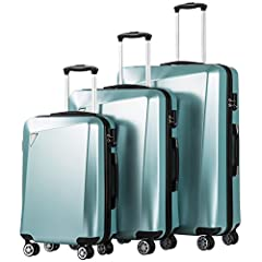 COOLIFE luggage insists on excellent quality to make your journey safe and enjoyable.This is our latest designed 3 piece suitcases. The unique irregular design of the surface will make your luggage stand out on luggage carousel. With scratch ...