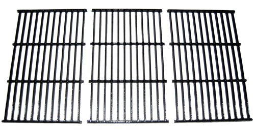 (Rectangular Porcelain Coated Cast Iron Cooking Grids (Set of 3))