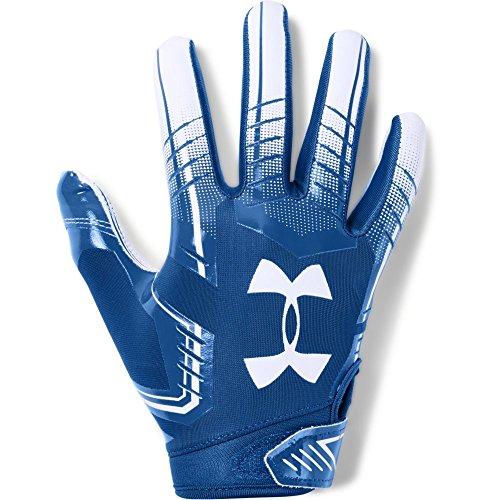 Under Armour boys F6 Youth Football Gloves Royal (400)/White Youth Medium