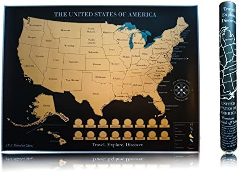P.S. Adventure More) Scratch off Map of The United States ...