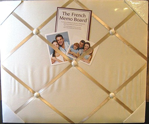 The French Memo Board - A Creative Display for Photos, Mementos, Greeting Cards and Much More- Solid Ivory- Factory Sealed
