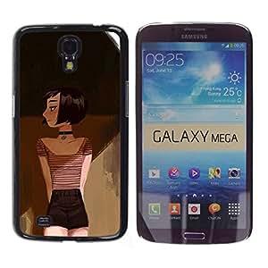 Paccase / SLIM PC / Aliminium Casa Carcasa Funda Case Cover - Drawing Deep Art Painting Emo Hipster - Samsung Galaxy Mega 6.3 I9200 SGH-i527