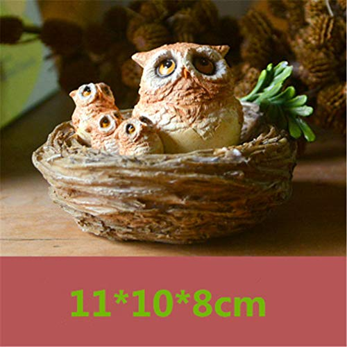Lovely Owl Resin Miniature Figurines Kid's Room Desktop Bonsai Ornament Accessories Home Cabinet Car Decor Toys Birthday Gifts 7]()