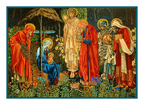 William Cotton Tapestry - William Morris Adoration of Magi Counted Cross Stitch Pattern