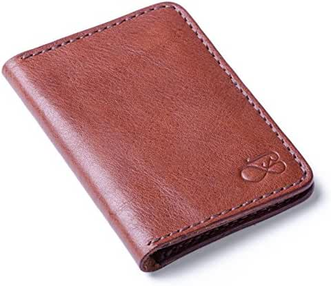 Baurdi Aviator - The Best Bifold Wallet for Men - Premium Slim Design Makes a Great Front Pocket Wallet - 100% Full Grain Brown Italian Leather