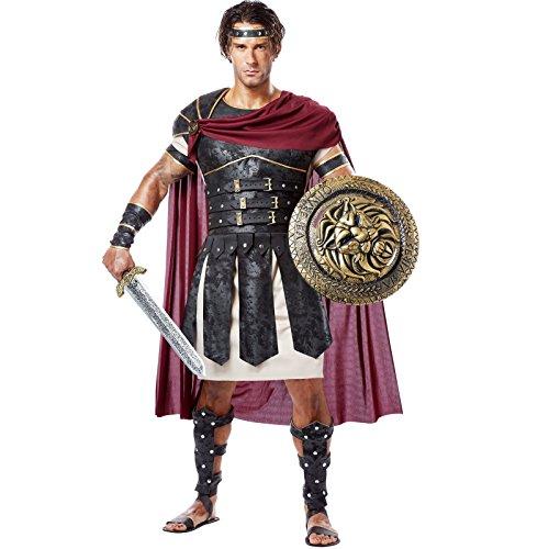 California Costumes Men's Roman Gladiator Adult, Black/Burgundy, -