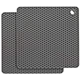 Premium Extra Thick Silicone Trivet Mat, Multi-Purpose Silicone Pot Holders, Spoon Rest and Kitchen Table Mat - Insulated, Flexible, Durable, Non Slip Hot Pads and Heat Resistance Coasters