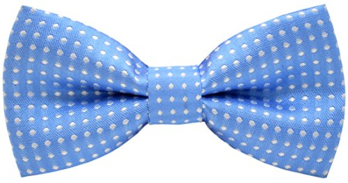 Carahere Handmade Little Boy's Polka Dot Bow Ties M012 (One Size, Light blue) ()
