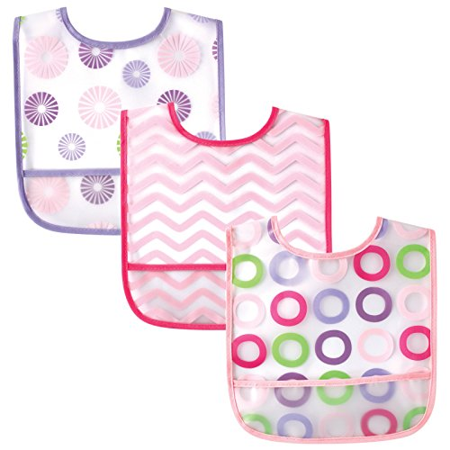 Luvable Friends 3 Pack Easy Clean Bibs product image